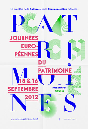 Ministry of Culture and Communication – Paris - 2012 JEP poster - Les Graphiquants